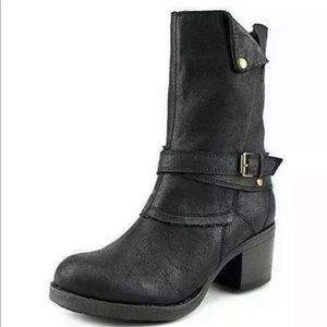 Mia Moto ankle booties boots chunky heel